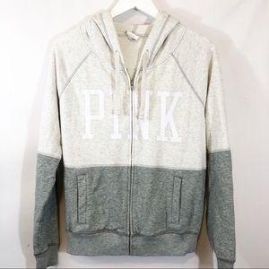 3/$10 Pink full zip sweatshirt sz S